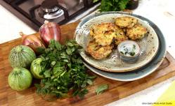 courgette mint fritters 3