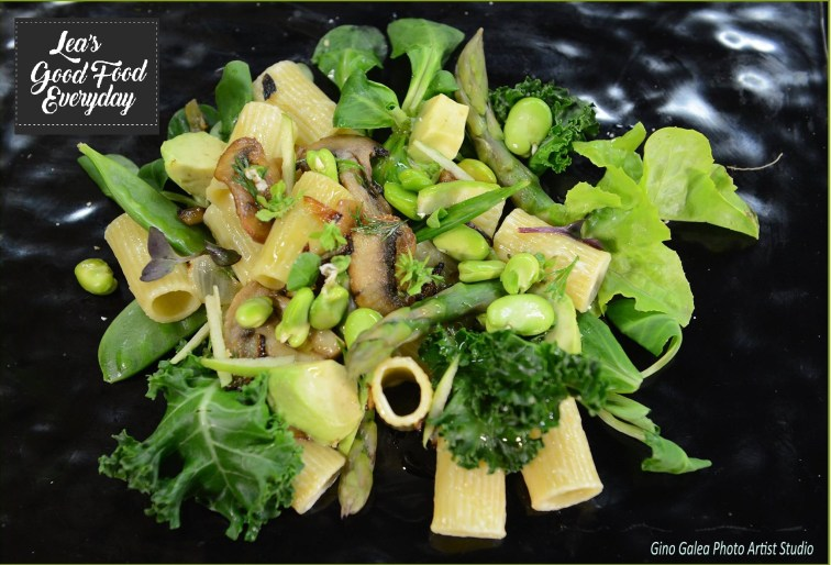pasta with fresh seasonal vegetables