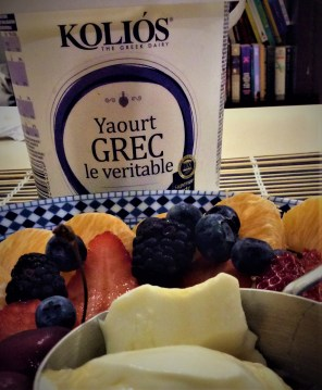 Authentic Greek yogurt makes a great topping for this soup and also a delcioius dessert with agave to serve with fresh fruit