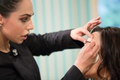 More eyebrow grooming by MUA Analise Micallef