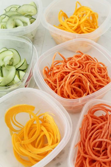 spiralised vegetables for children
