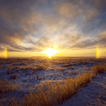 Sun Dogs framing an arctic sun in Tuk