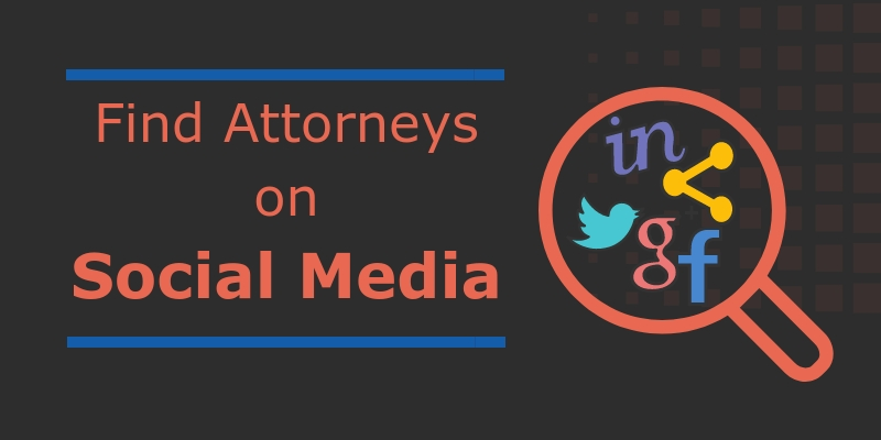 find attorneys on social media