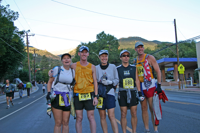 Rogue Training Group friends at 2005 Pikes Peak Marathon.