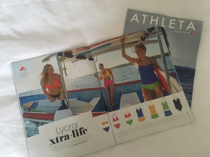 Athleta Curvy Swimsuit Model Spread