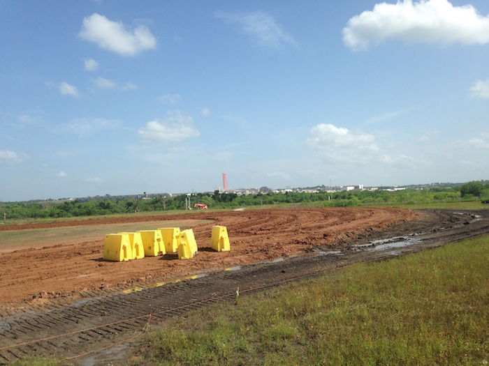 X Games Austin Flat-Track Racing course under construction in 2015