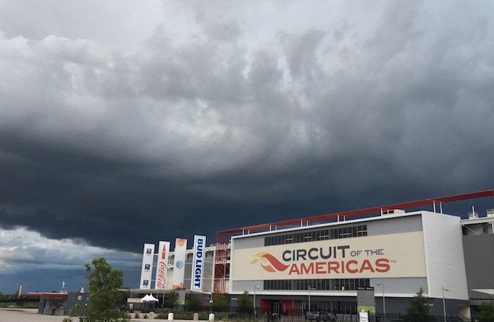 Storm clouds roll into Circuit of The Americas at X Games Austin 2016