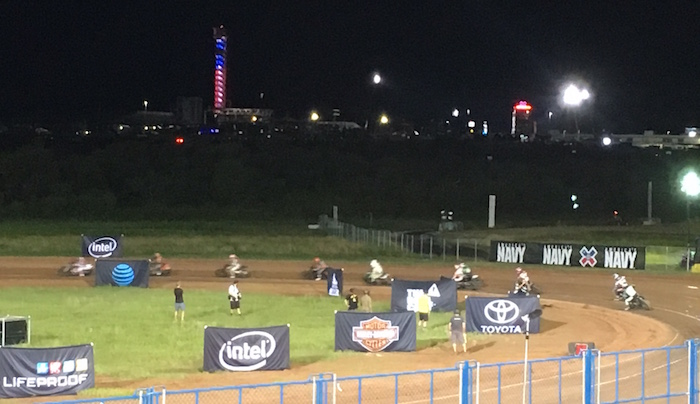 Night finals of Harley-Davidson Flat-Track Racing at X Games Austin 2016.