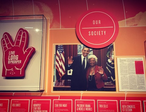 Two of my personal heroes reference a third. Live long and prosper. Photo Credit: Leah Nyfeler