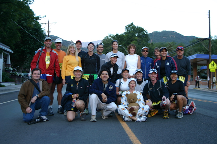 Group of Rogue Training System runners at start of 2005 Pikes Peak Marathon