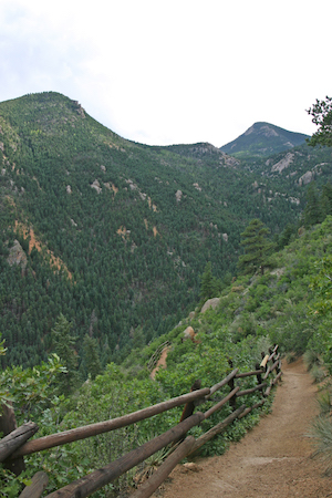 Pikes Peak Trail view of the Ws