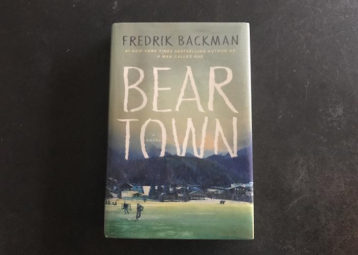 "Hardback copy of Fredrik Backman's novel about a hockey town, ""Beartown"""