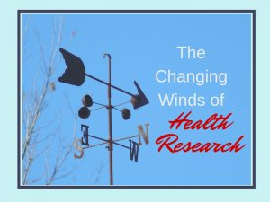 weather vane with title The Changing Winds of Health Research