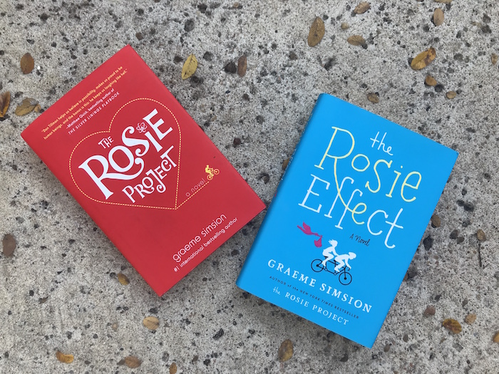 covers of The Rosie Project and The Rosie Effect by Graeme Simsion