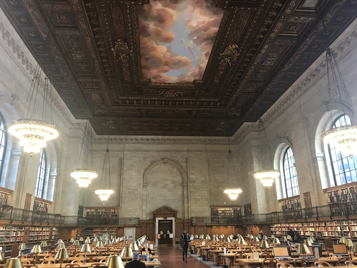 Freelancing from NYC's Public Library