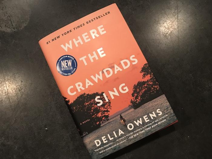 Hardback copy of Delia Owens' novel, Where the Crawdads Sing