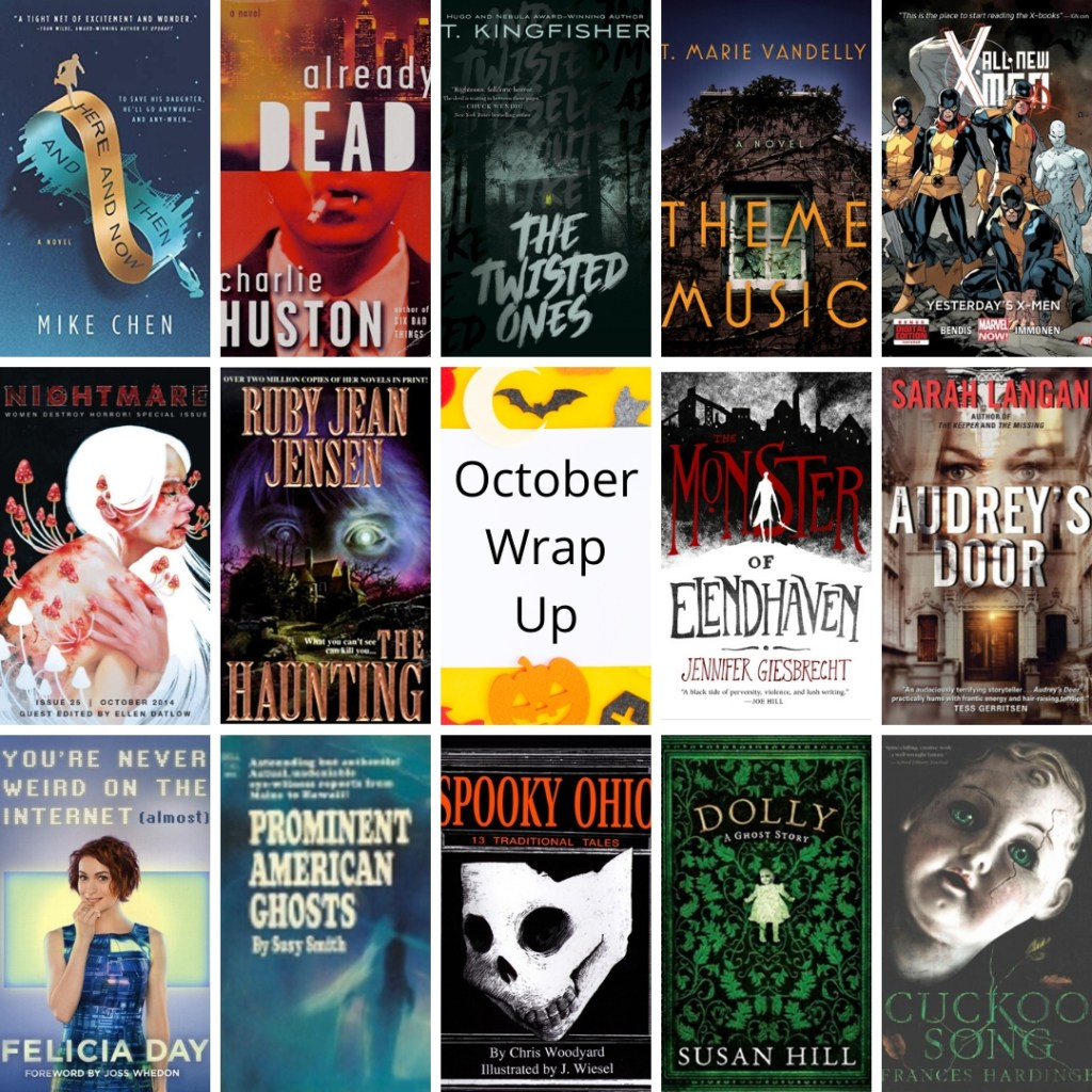 image collage books read in october 2019