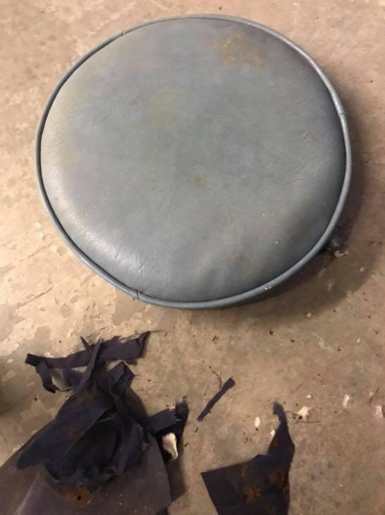 farmhouse thrift stool