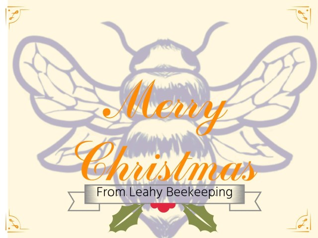 Bee christmas card