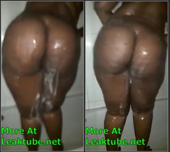Fat Tanzania Lady Bathing Leaked By Angry Bf Leak
