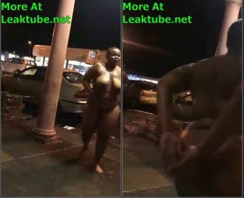 South Africa: Eastern Cape Drunk Woman Dancing On The Street Naked
