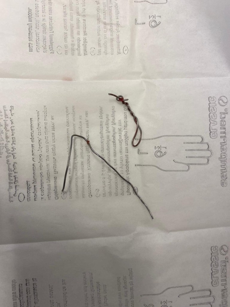 popeye intervento filo di ferro