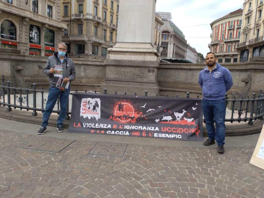 LEAL AL FIRMA DAY PER IL REFERENDUM ABOLIZIONE CACCIA