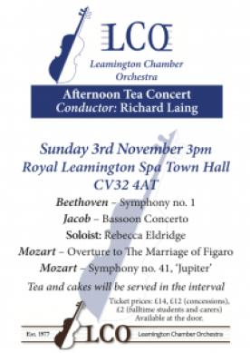 Poster for LCO November concert