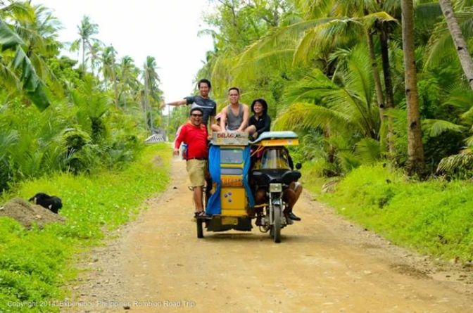 Driving along unpaved roads of Sibuyan Island, Romblon.