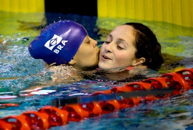 Mundial de Natação Glasgow, Joana Silva e Esthefany Oliveira. ©Leandra Benjamin/CPB/MPIX