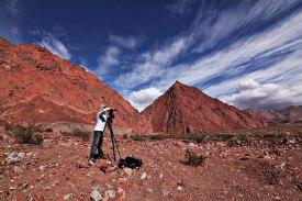 Preparando una toma vertical (Foto: Facundo Fuentes)