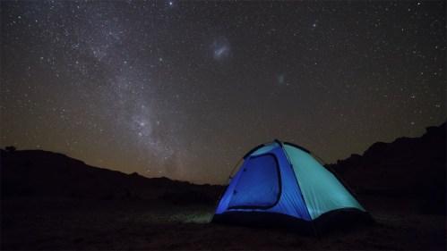 Carpa, Vía Láctea y nubes