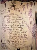 note a mano su un comò l'androne poesia leandro vichi