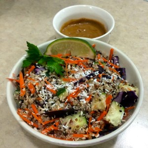 Thai Quinoa Salad with Peanut Sauce