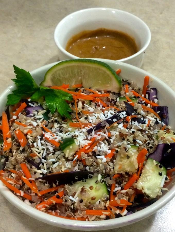 Thai Quinoa Salad with Peanut Sauce
