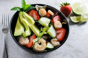 Honey Lime Shrimp Salad with Mint Lime Dressing