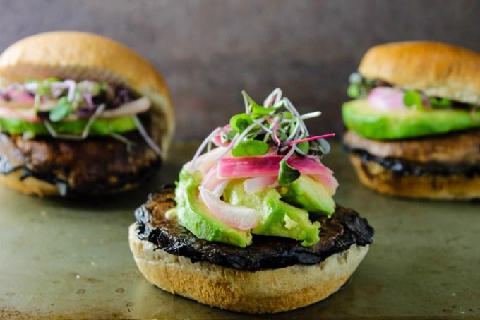 Teriyaki Portobello Mushroom Burgers