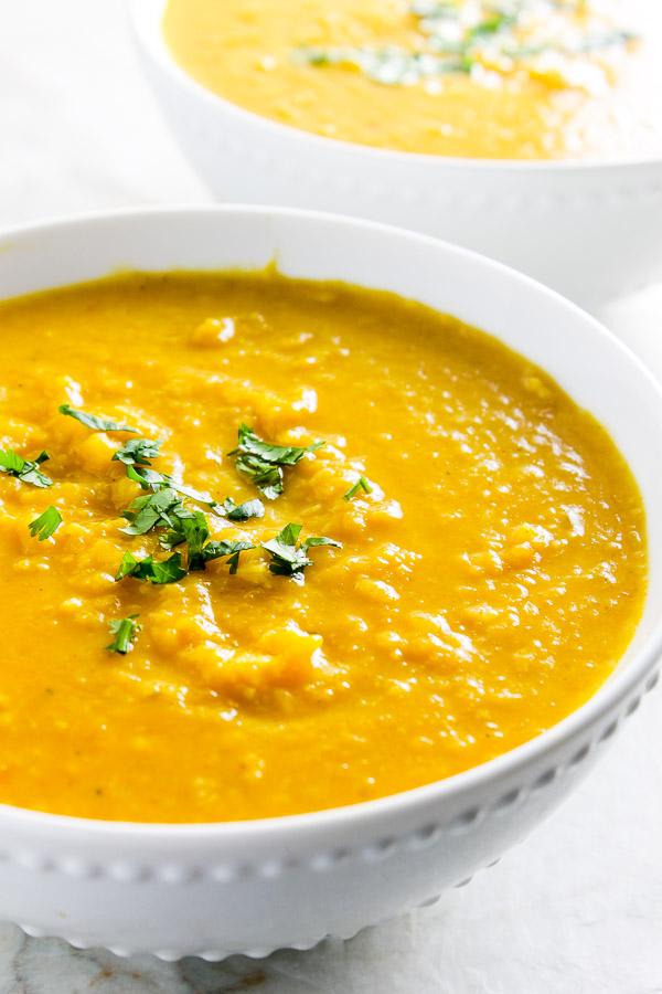 Curry Butternut Squash Lentil Soup