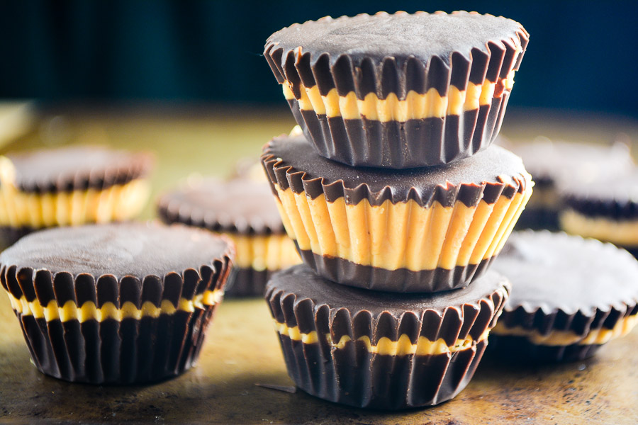 Dark Chocolate Honey Cashew Butter Cups