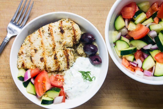 Greek Chicken Quinoa Bowl