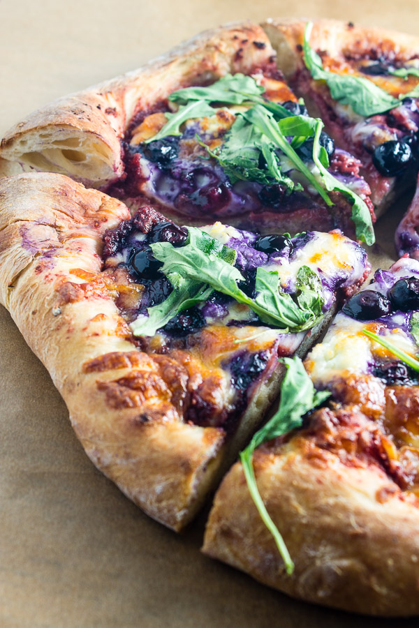 Summer Blueberry Pizza with Beet Pesto