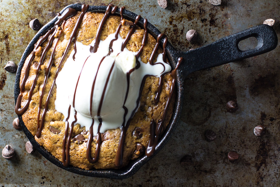 Chickpea Flour Skillet Cookie
