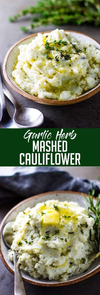 Garlic Herb Mashed Cauliflower