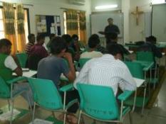 Pastor Joseph Biswas, while teaching a Bible Doctrine Course
