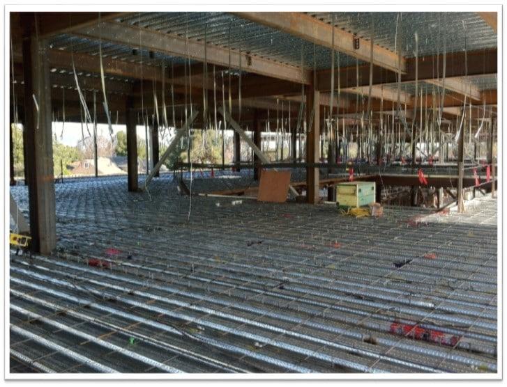 Hangers installed pre concrete pour