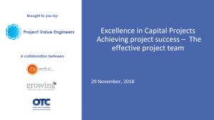$97.00 Add to cart Webinar & Slides: Excellence in Capital Projects – Part 4: The Effective Project Team