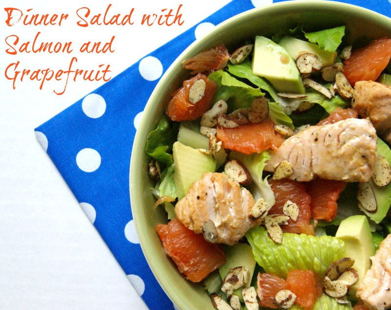 Dinner Salad with Salmon and Grapefruit – Recipe and Linkup Party