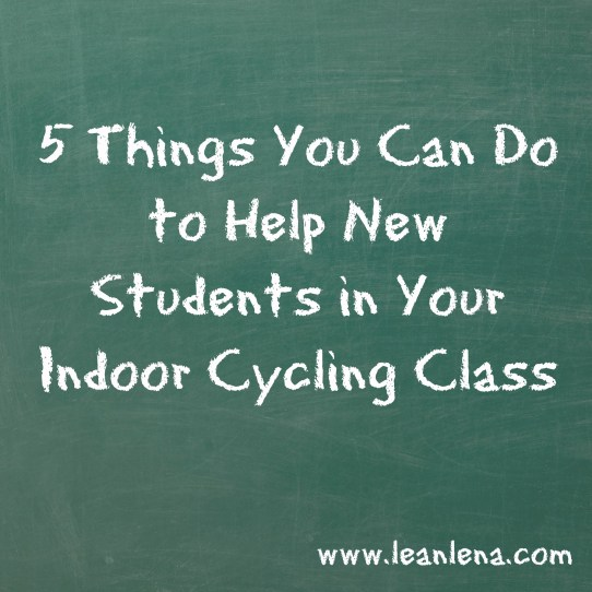 new students in indoor cycling