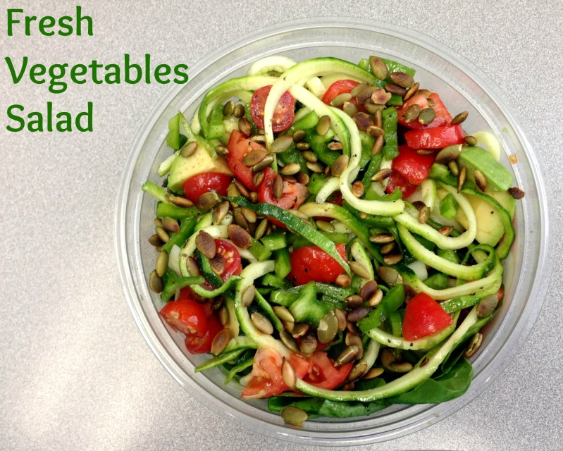Homemade Fresh Vegetables Salad Recipe and Tasty Tuesday Linkup Party