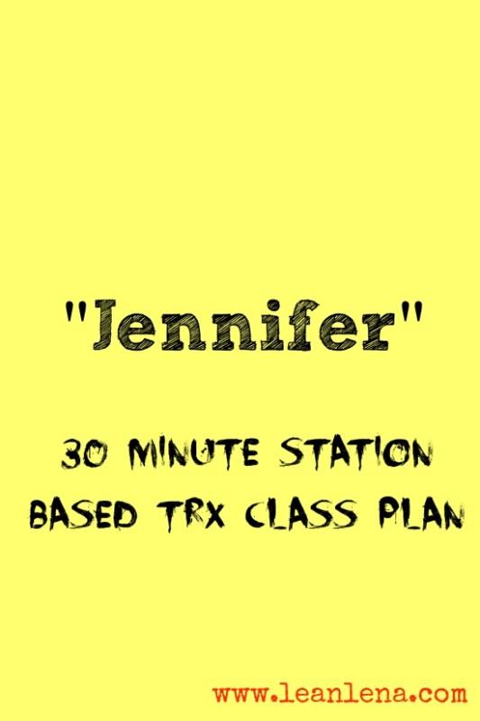 Station Based TRX Class Format – Jennifer